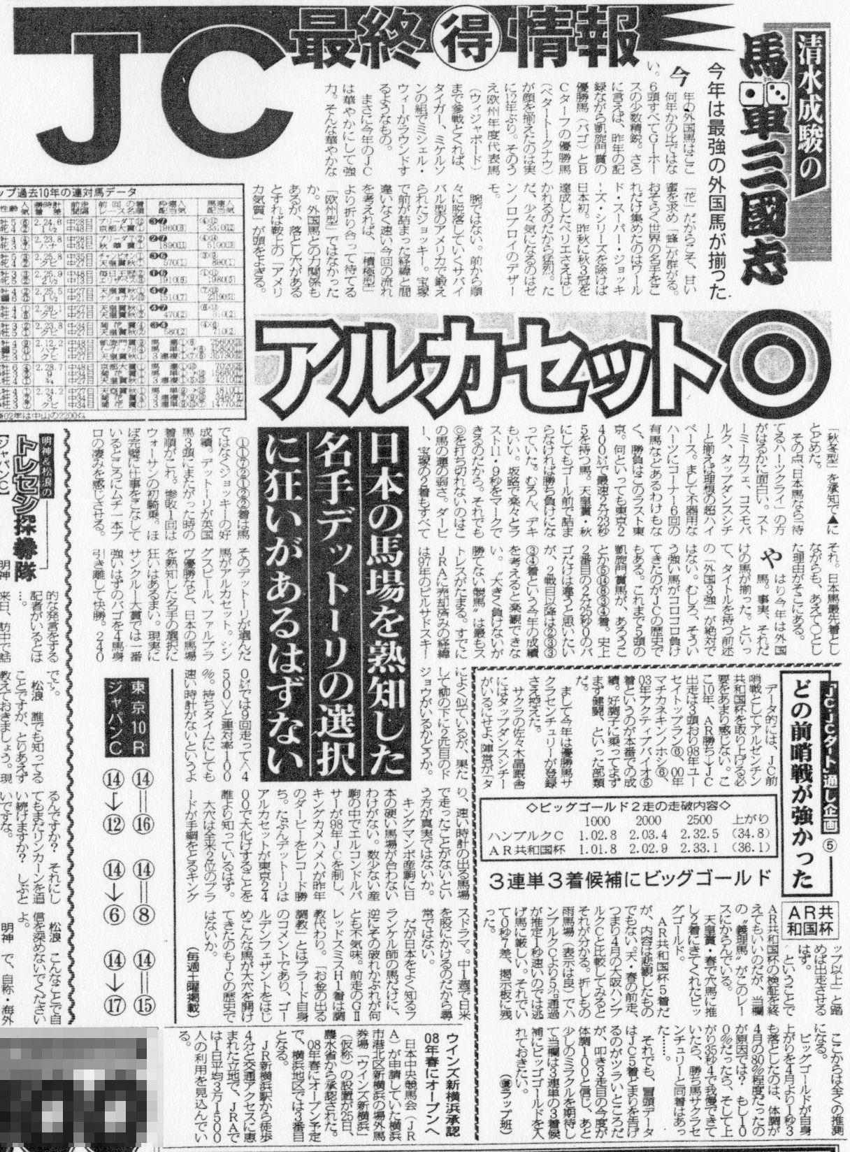 第25回ジャパンC